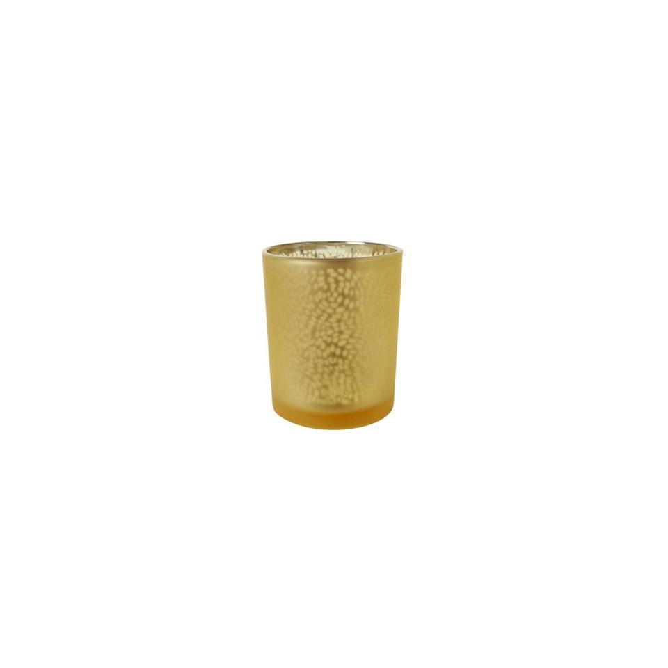 Portacandela Arctic in vetro oro cm 6x7,5