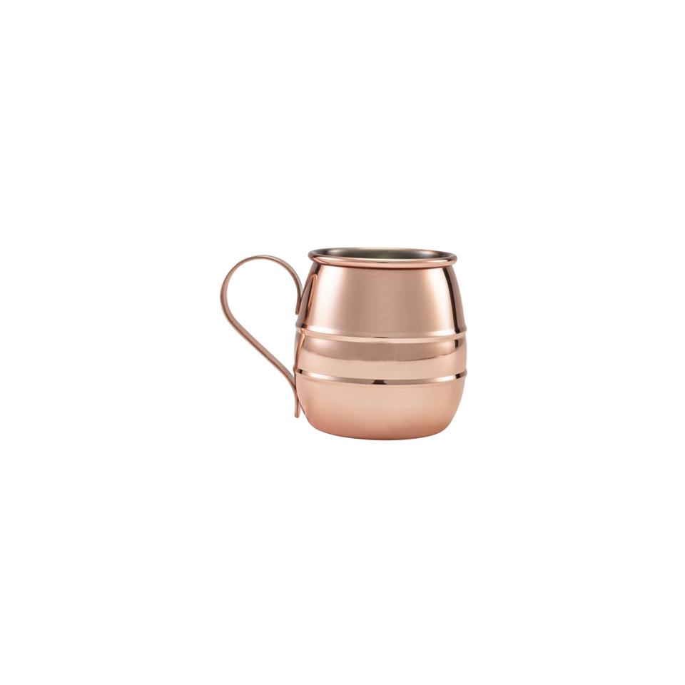Boccale mug bombato in acciaio inox ramato con manico cl 50