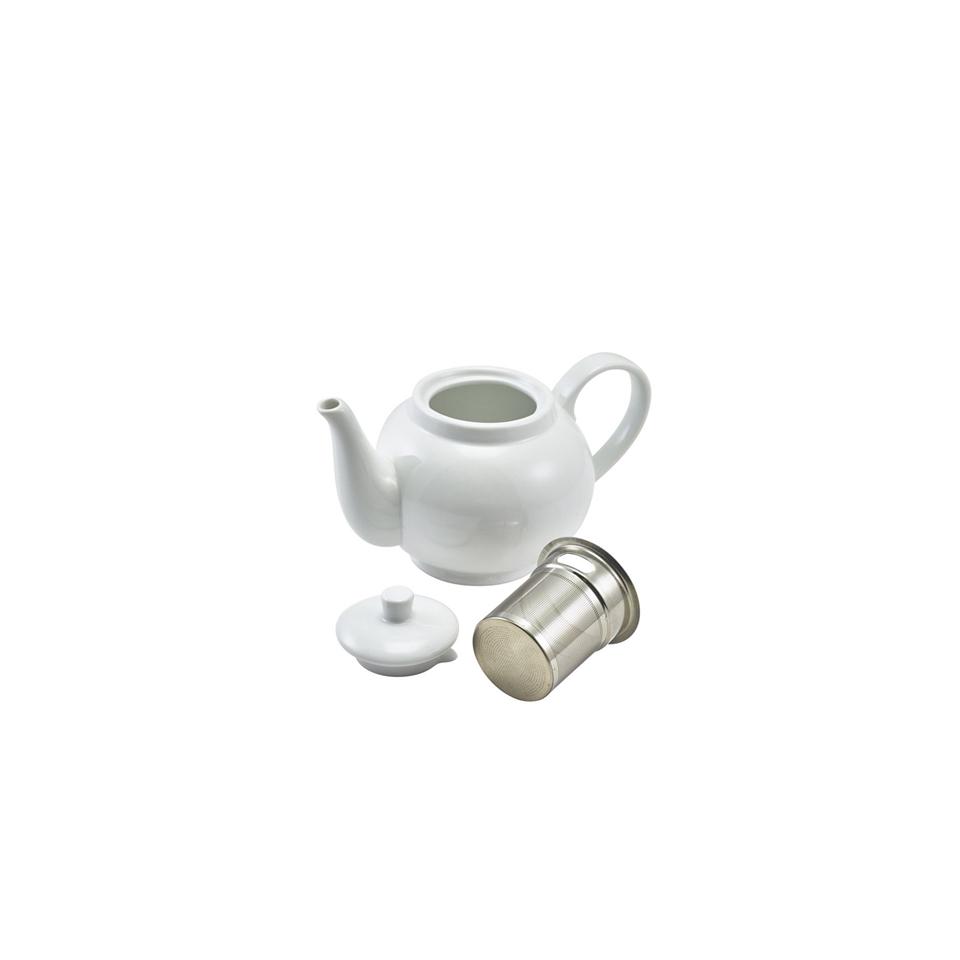 Teiera Royal con filtro in porcellana bianca cl 45