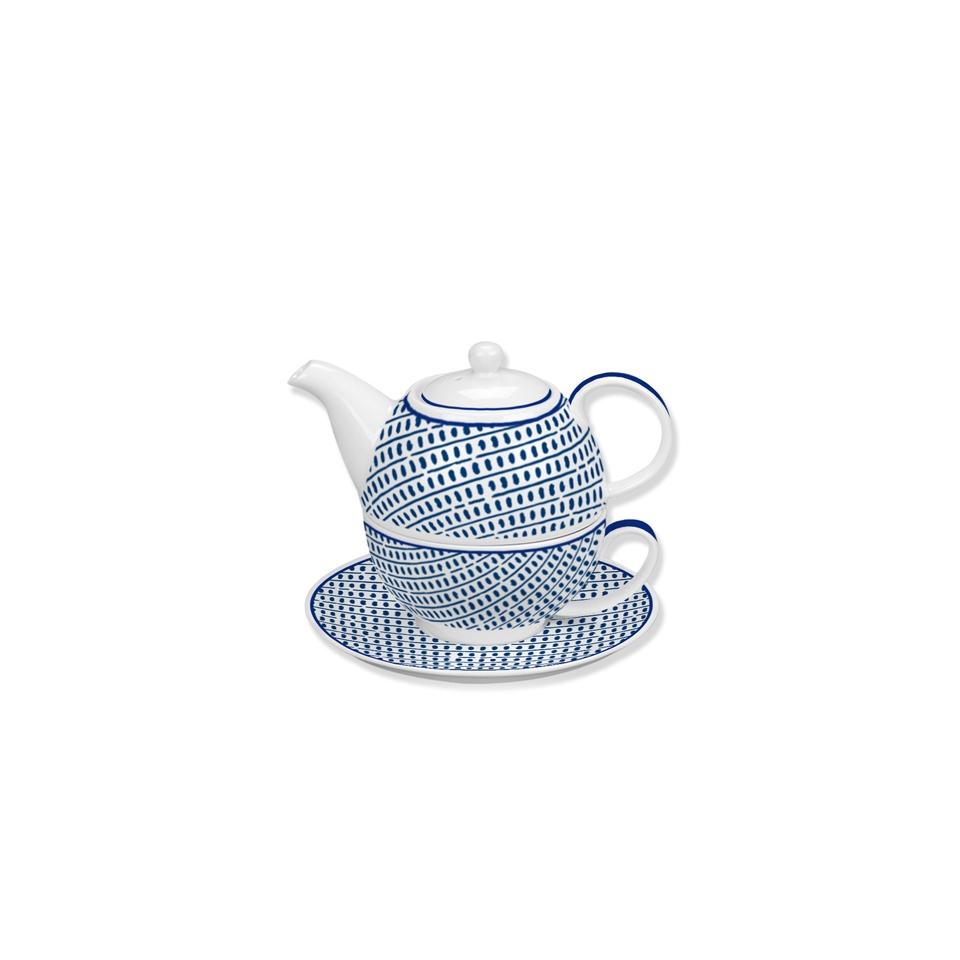 Tea For one Andalusia in porcellana bianca e blu 352840 - RGMania