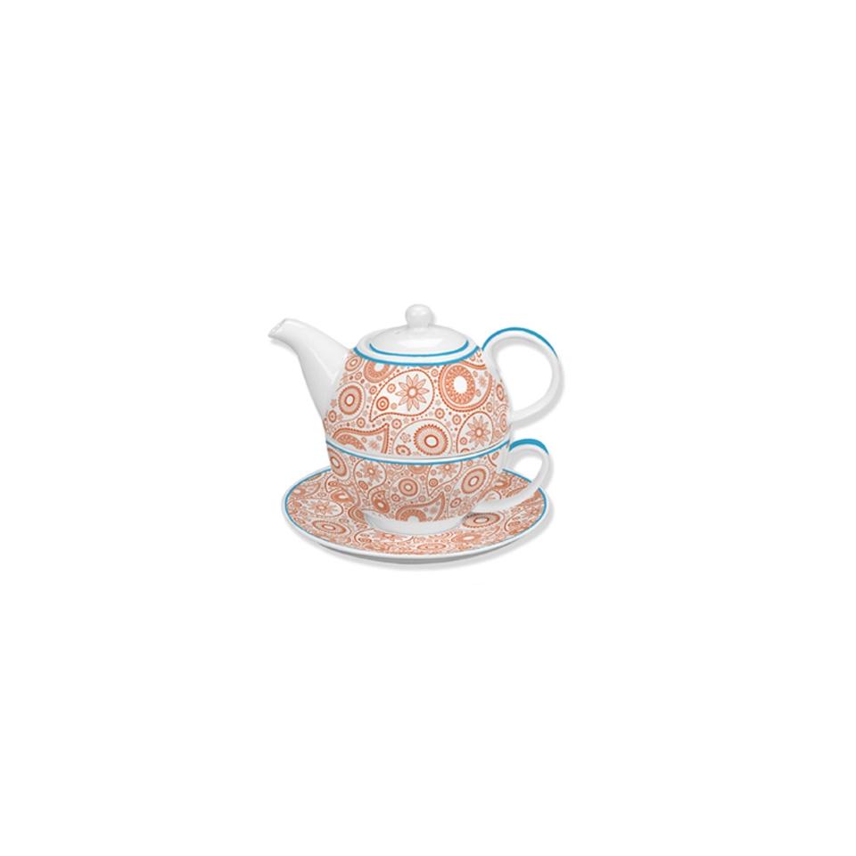 Tea For one Andalusia in porcellana bianca e blu