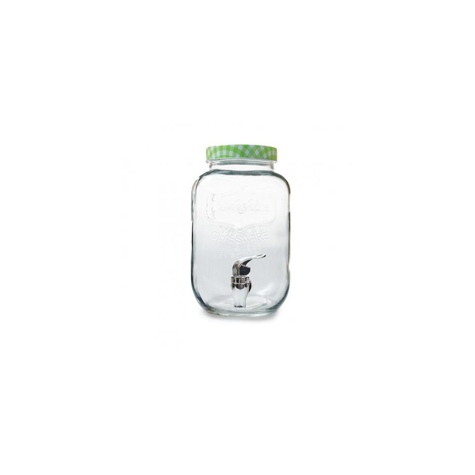 Vaso Yorkshire punch barrel con rubinetto in vetro lt 4