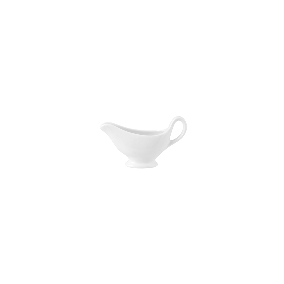 Salsiera saucière in porcellana bianca cl 18
