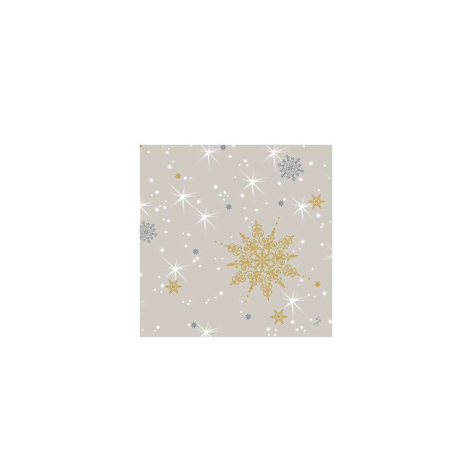 Tovagliolo Natale Duni in carta beige cm 40x40