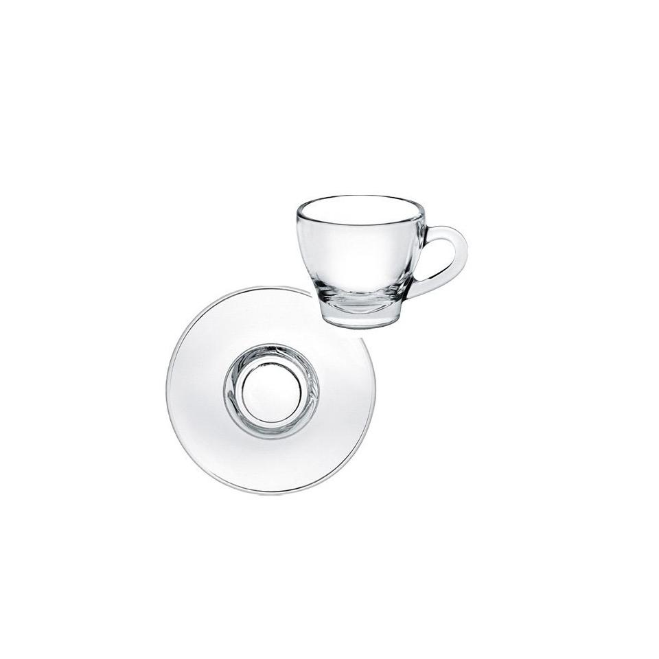 Tazza cappuccino Ischia senza piatto in vetro cl 18
