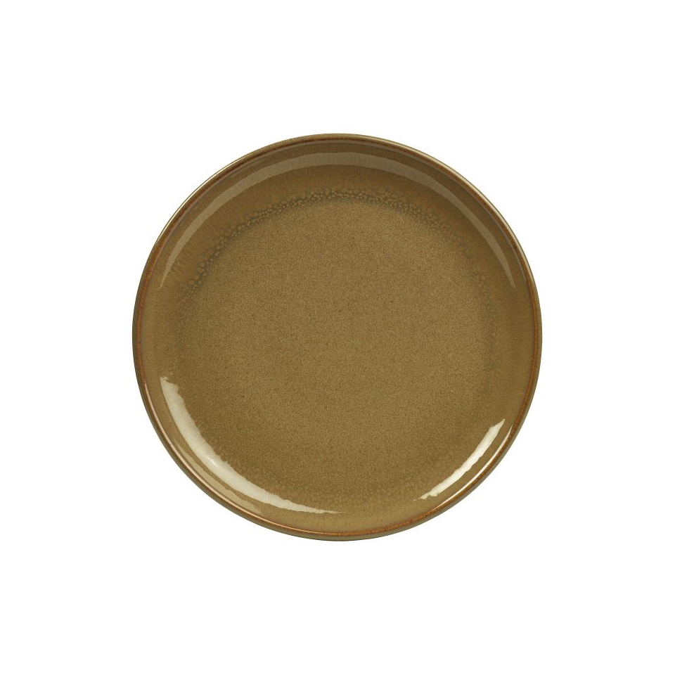 Piatto piano Stoneware Terra marrone cm 27