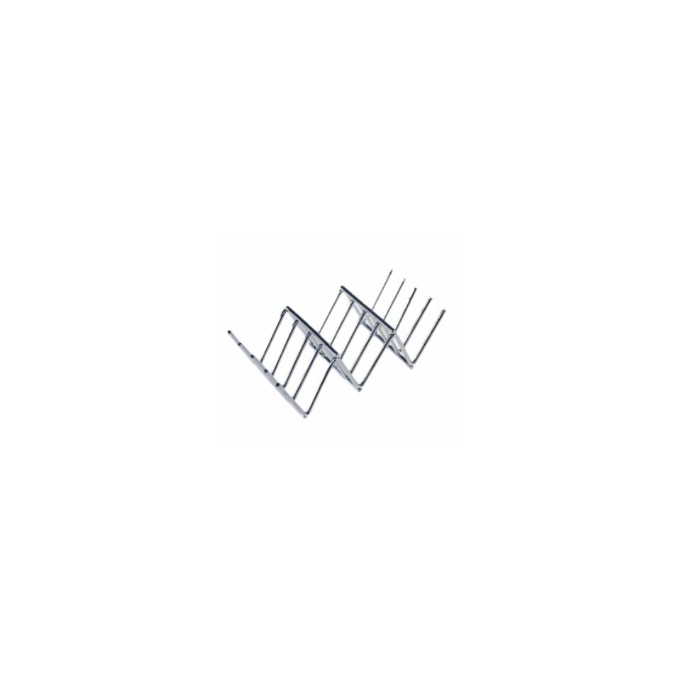 Supporto per mini tacos in acciaio inox cm 11,5x5,1x3,2