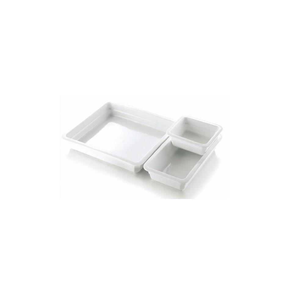 Gastronorm 1/2 Gourmet in porcellana bianca cm 32x26,5