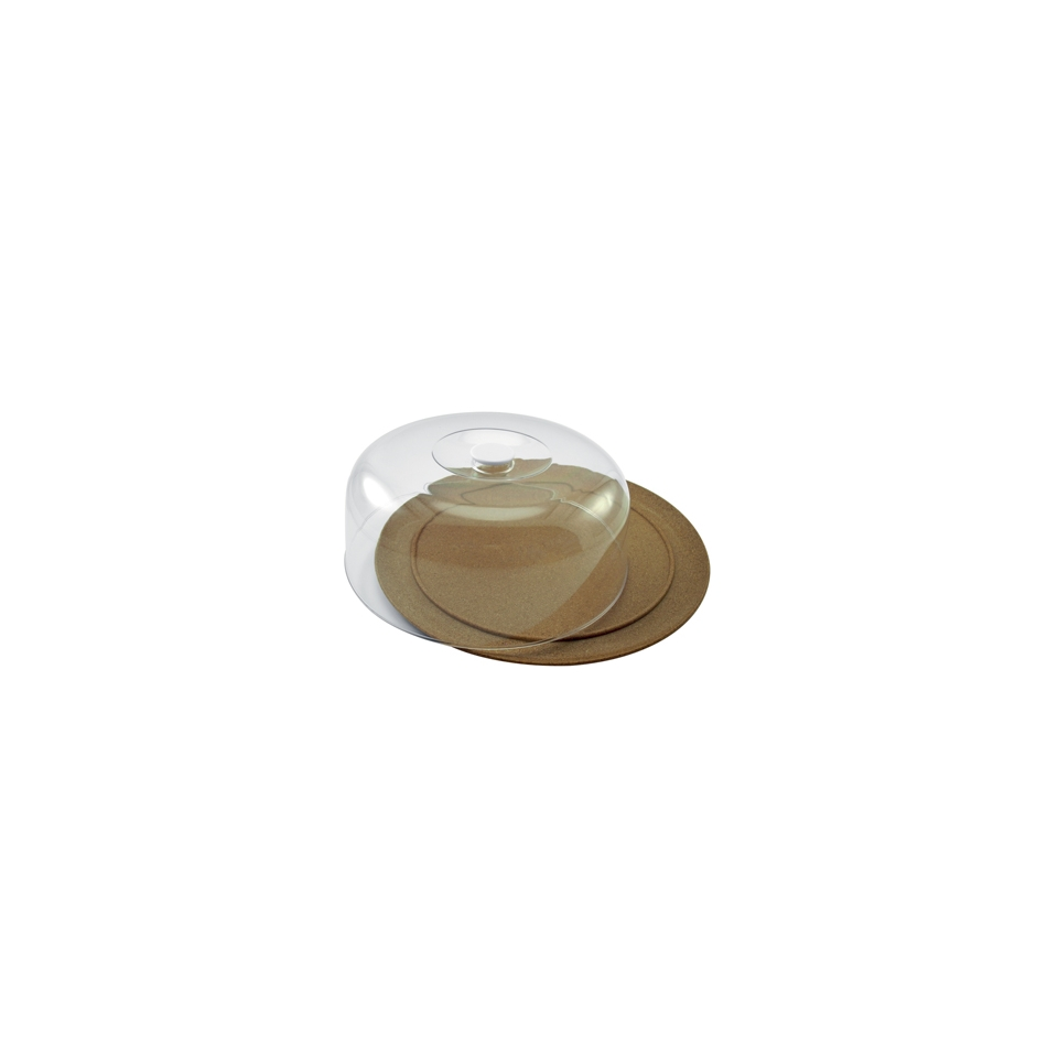 Piatto torta con cupola Eco-line in legno cm 25