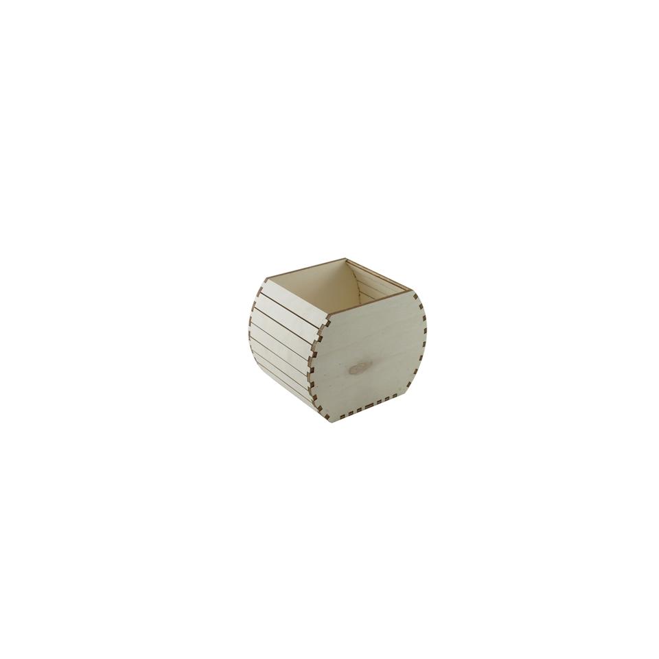 Mini botte in legno naturale cm 10,5x14x12,5