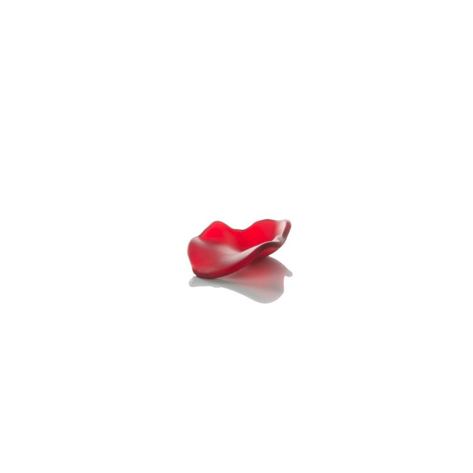Piattino Petalo 100% Chef in vetro rosso satinato cm 7x5