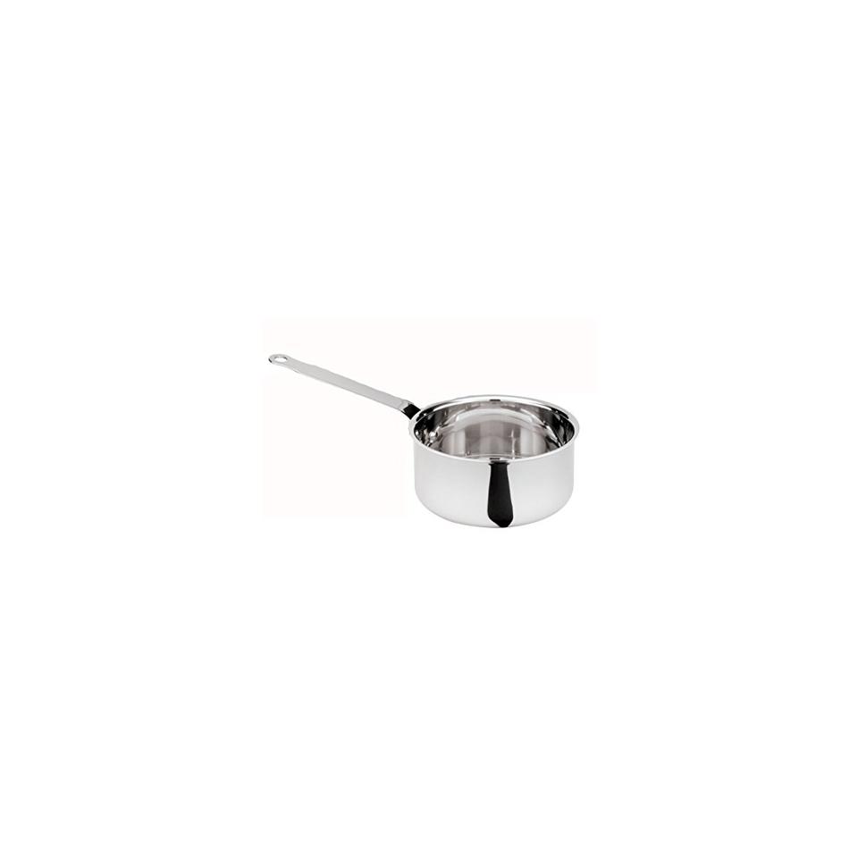 Casseruola induzione mezza alta a un manico in acciaio inox cm 14 lt 1