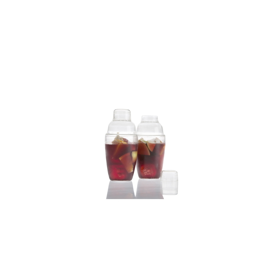 Bicchiere Shaker 3 pezzi 100% Chef in plastica trasparente cl 20