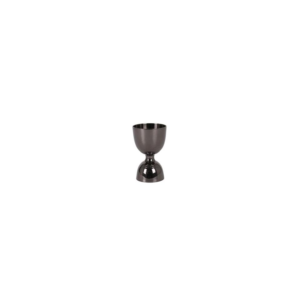 Jigger Leopold in acciaio inox rigato nero cl 3-6