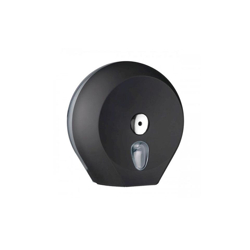 Porta rotolo in plastica nera