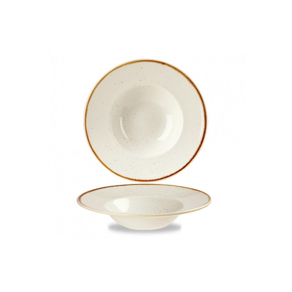 Pasta bowl Stonecast Churchill in ceramica vetrificata bianca cm 24