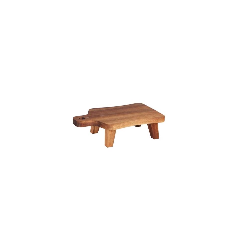 Tagliere rettangolare con piedini in legno di acacia cm 30X18X8,5