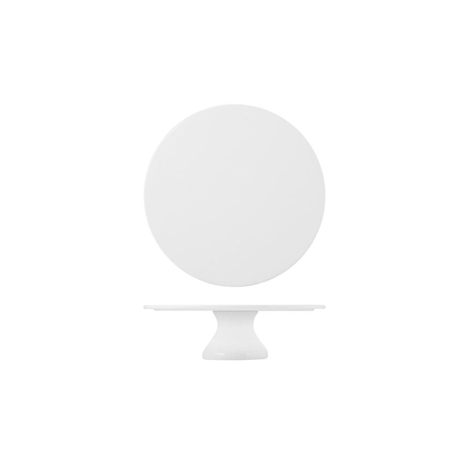 Alzata torta in porcellana bianca cm 20x8,5