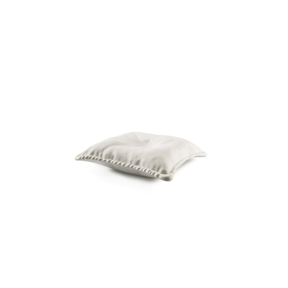 Cuscino 100% Chef in porcellana bianca cm 24x24