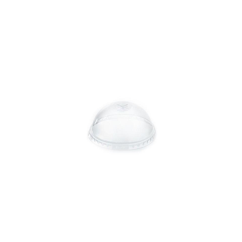 Coperchio Monouso Bombato con fessura In Pet Cm 9