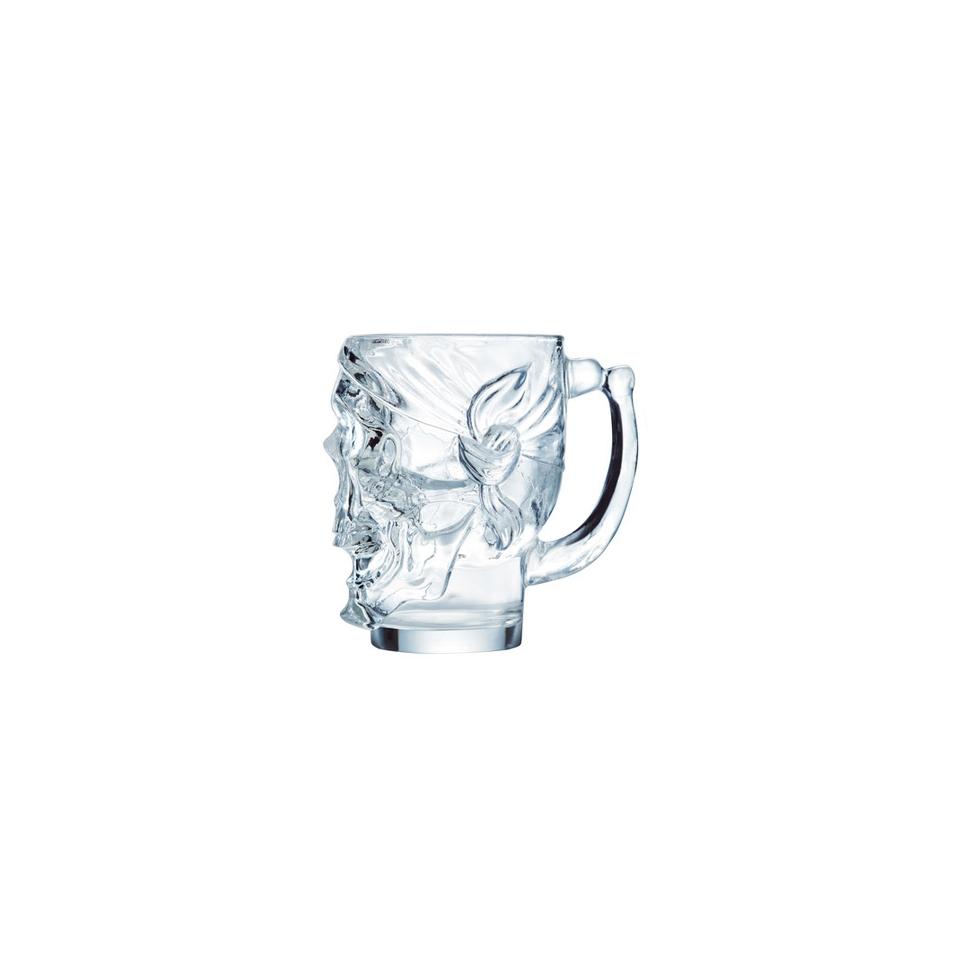 Boccale Teschio con manico in vetro cl 90