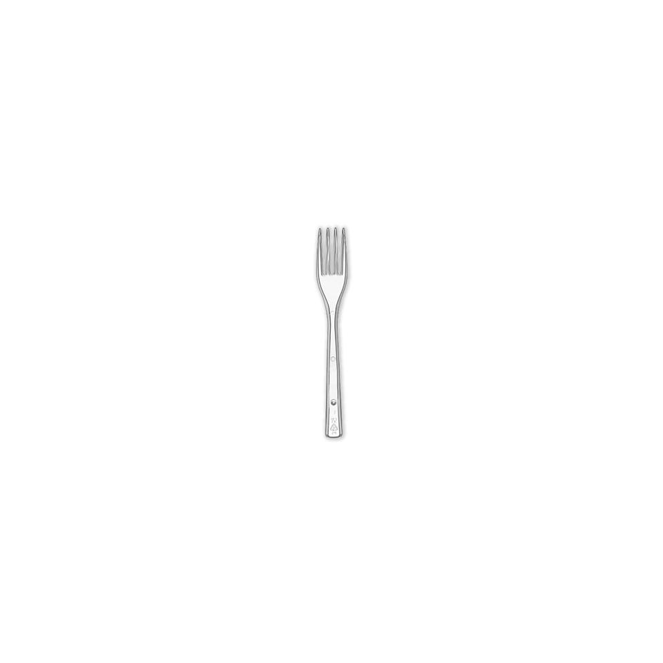 Forchetta monouso in plastica trasparente cm 17,5