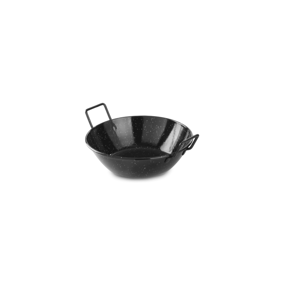 Mini paellera alta Hendi in latta smaltata nera cm 20x5,5