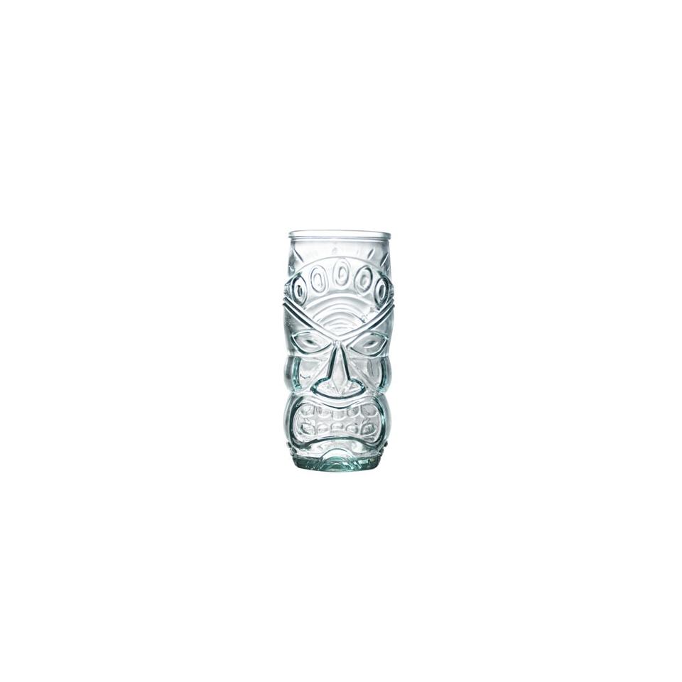 Bicchiere Tiki in vetro riciclato cl 55