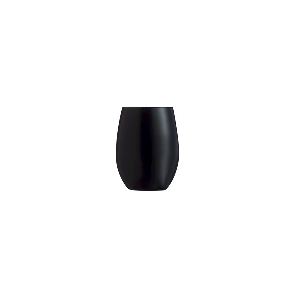 Bicchiere Primary in vetro nero opaco cl 36