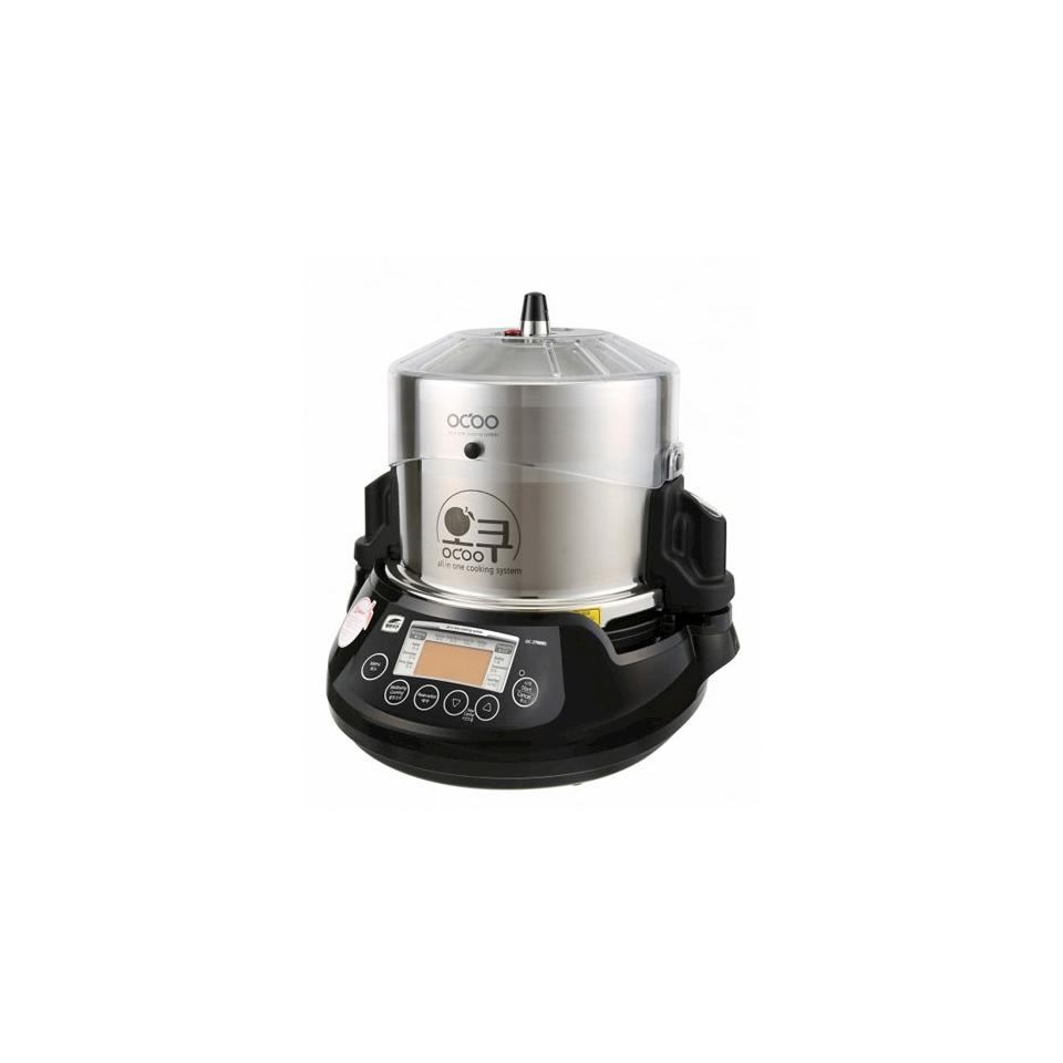 Pentola automatica Ocoo 100% Chef in acciaio inox e porcellana nera lt 3,5