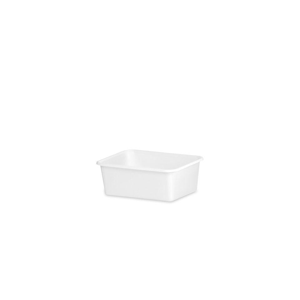 Vaschetta in plastica bianca cm 12,5x9