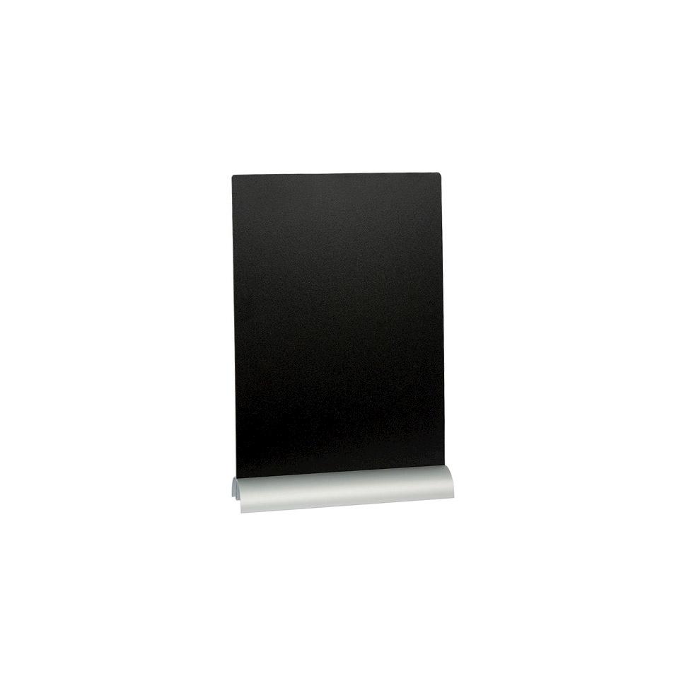 Lavagna da tavolo con base in alluminio e pennarello cm 30,8x21