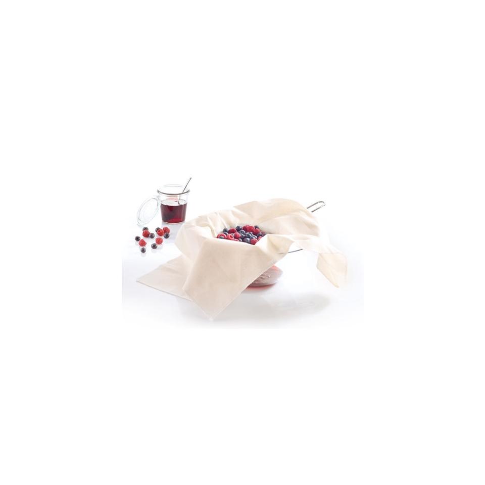 Panno passabrodo in cotone bianco cm 60x60