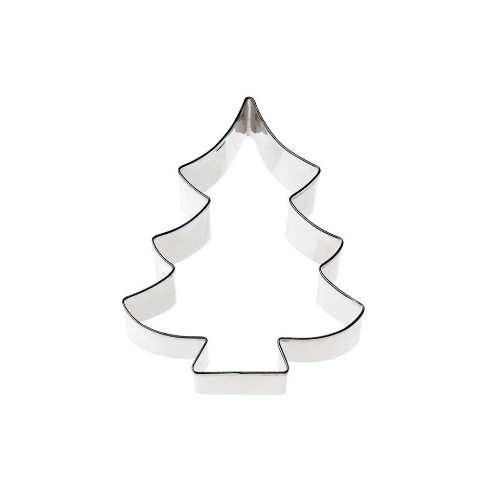 Albero Di Natale Stilizzato.Tagliapasta Albero Di Natale In Acciaio Inox Cm 8 363938 Rgmania