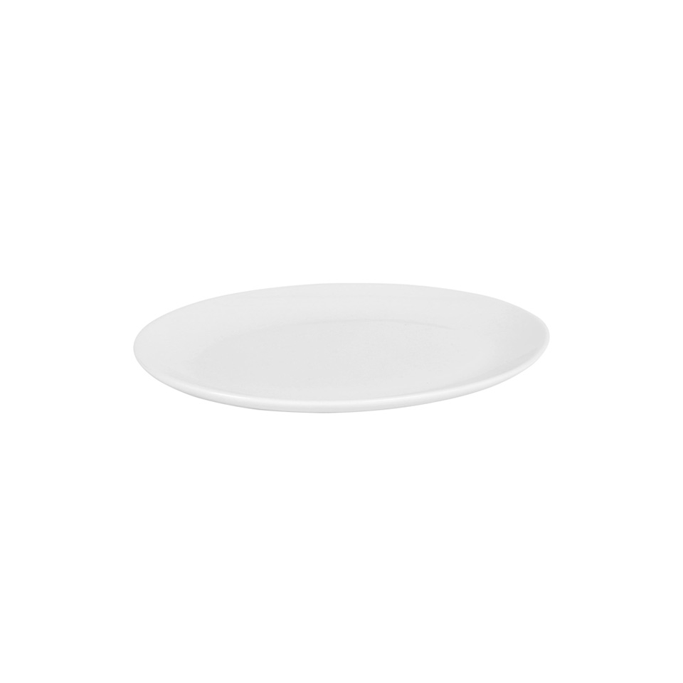 Vassoio Ovale Luarca in porcellana bianca cm 20,5x16