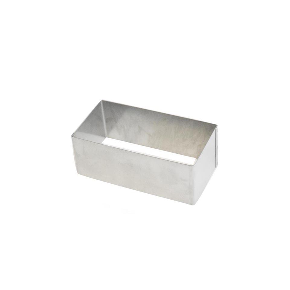 Stampo rettangolare in acciaio inox cm 4
