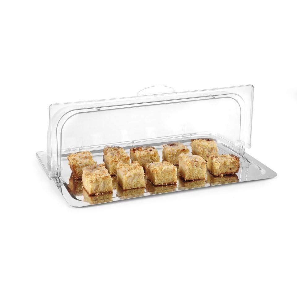 Cupola rettangolare roll top Hendi gastronorm 1/1 in policarbonato trasparente