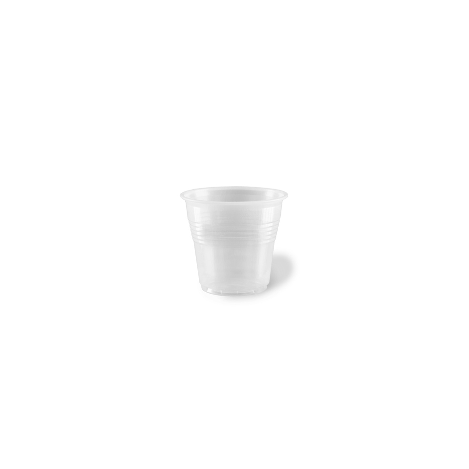 Bicchiere caffè monouso in plastica trasparente cl 8