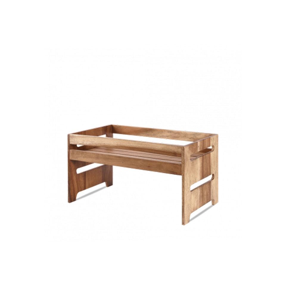 Alzata Buffetscape Churchill in legno di acacia marrone
