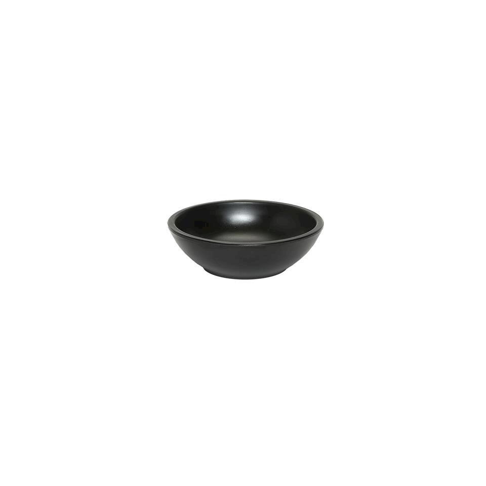 Coppetta tonda in melamina nera cm 7x2