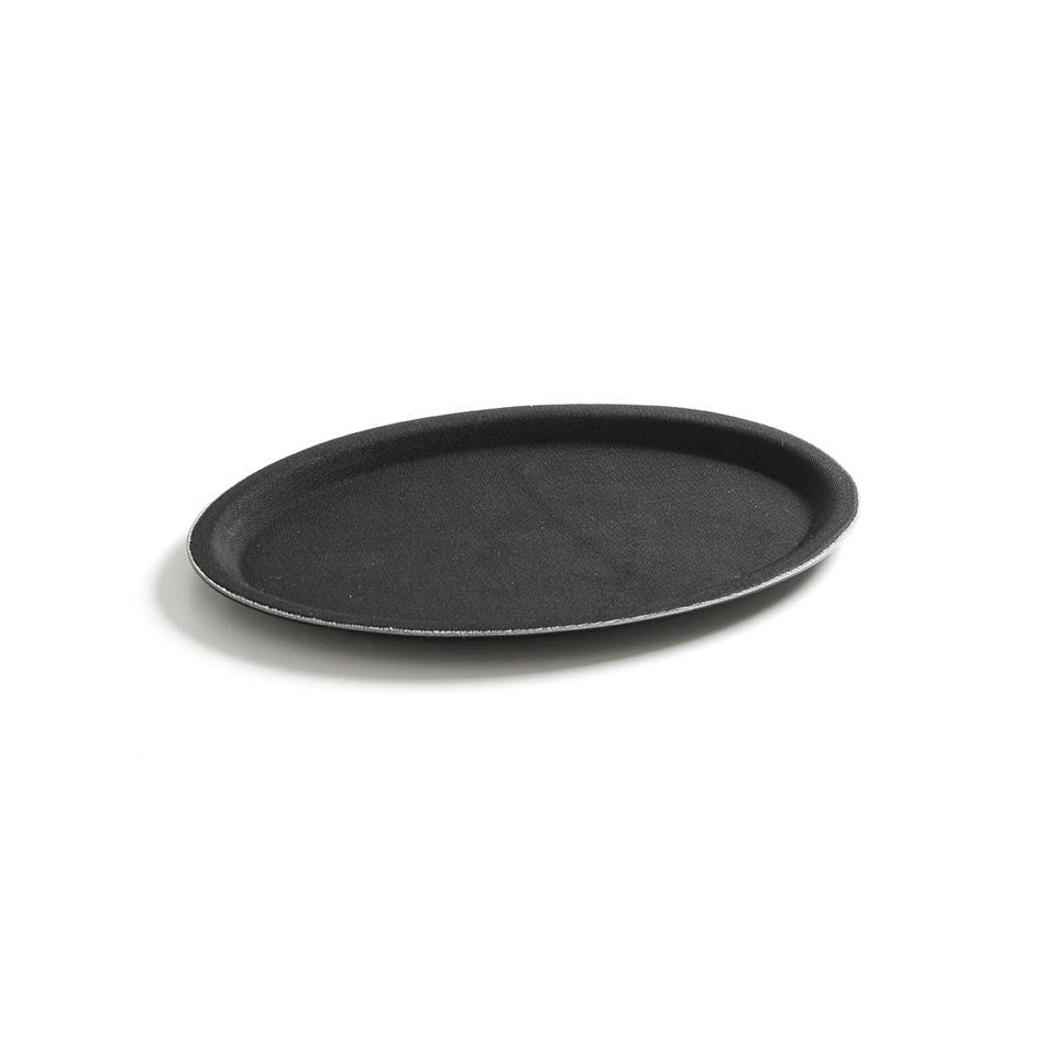 Vassoio ovale antiscivolo Hendi in fibra di vetro nero