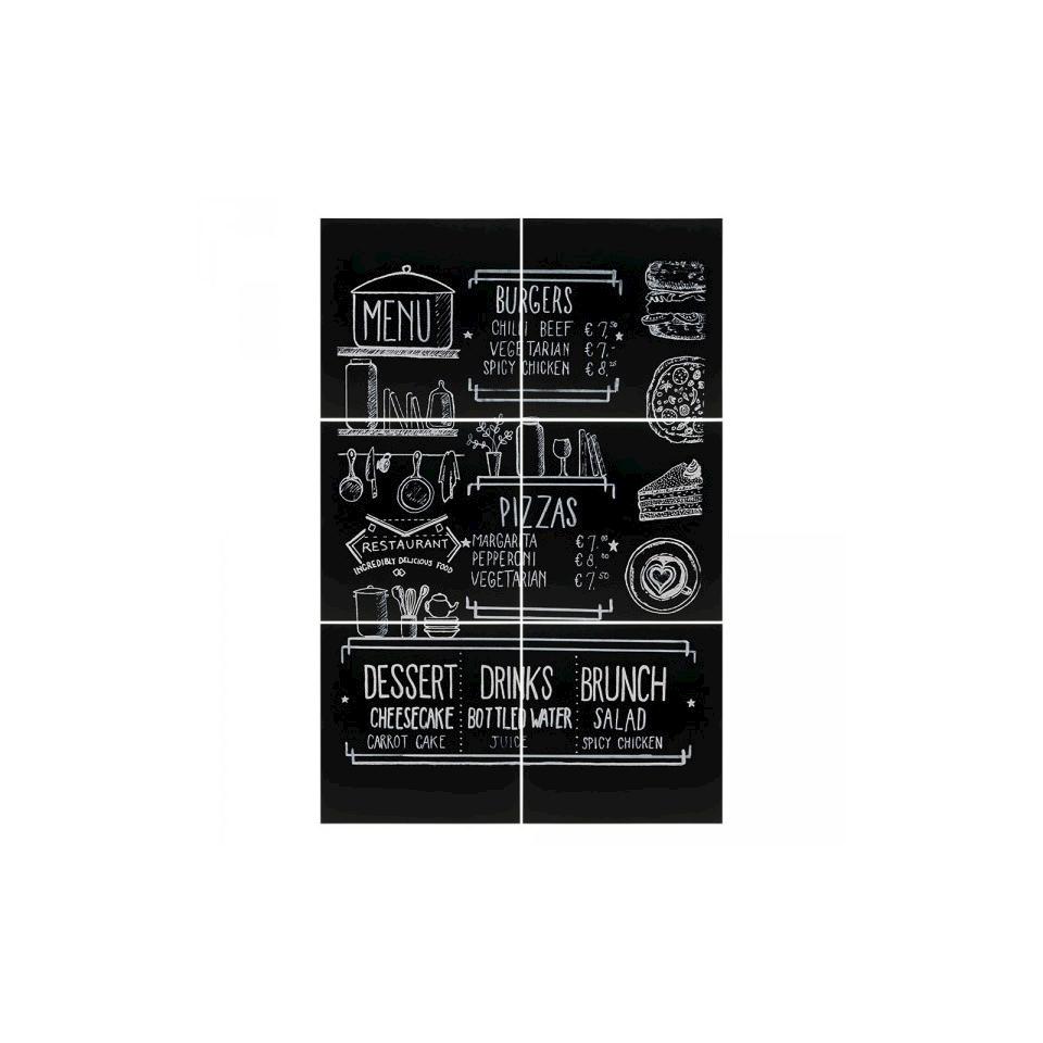 Set 6 lavagne XXL in plastica nera cm 40x40