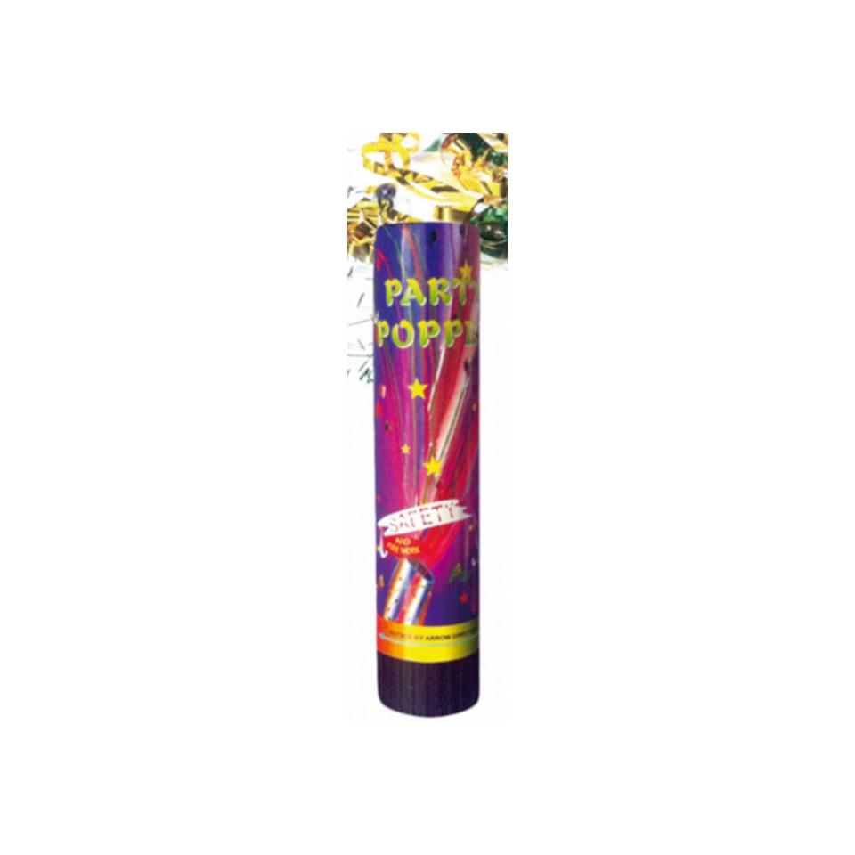 Tubo sparacoriandoli Party Popper in colori assortiti cm 20,5