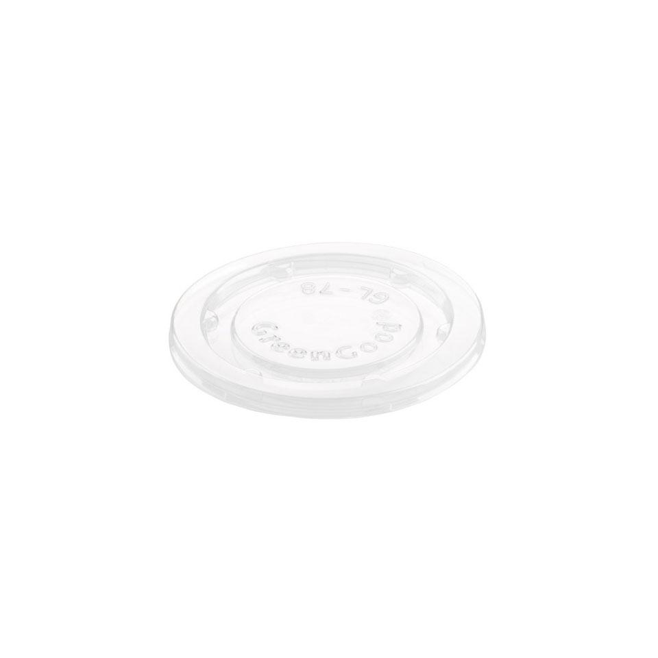 Coperchio monouso Duni in pla trasparente per coppetta condimento cm 4,7