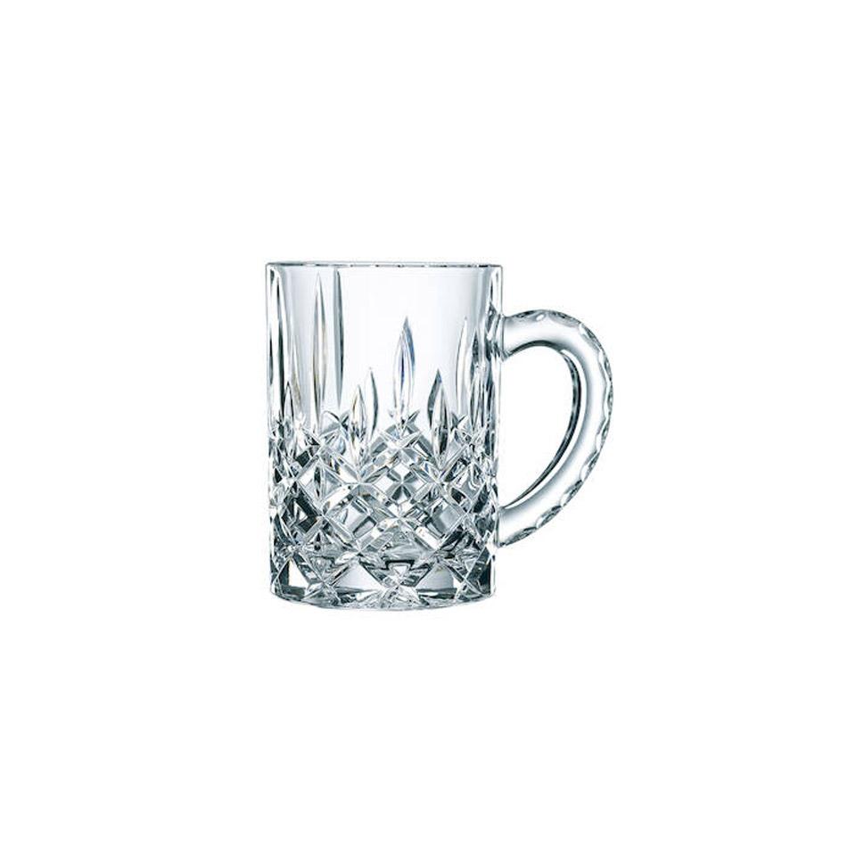 Bicchiere mug Noblesse in vetro decorato cl 25