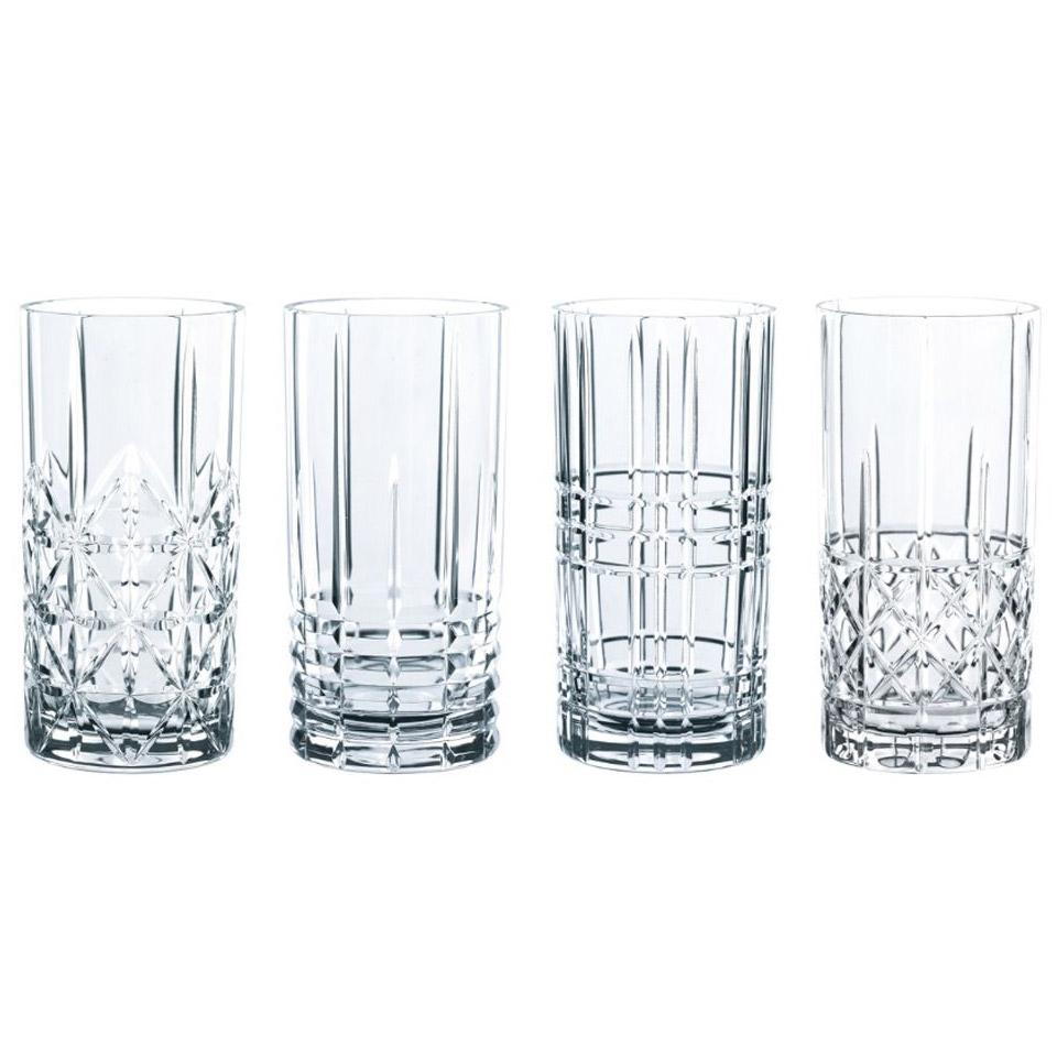 Set bicchieri Highland longdrink in vetro decori assortiti cl 44,5