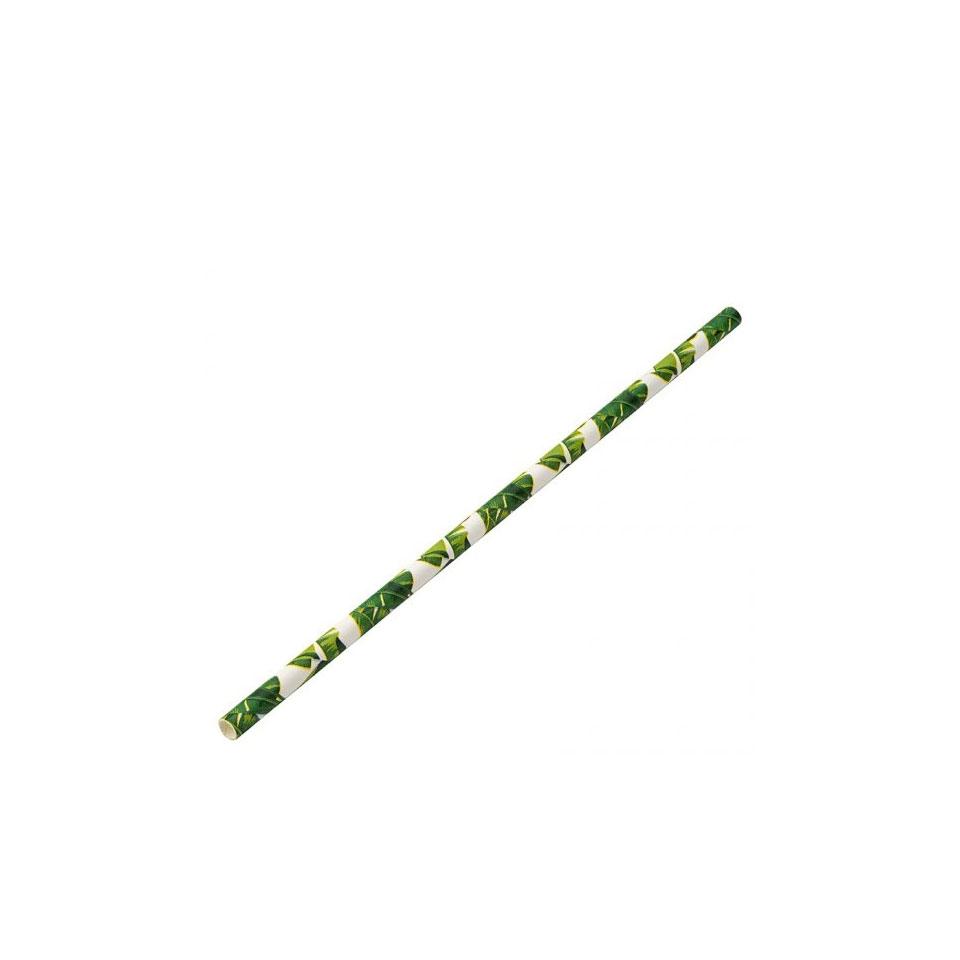 Cannucce biodegradabili in carta tropical cm 20x0,6