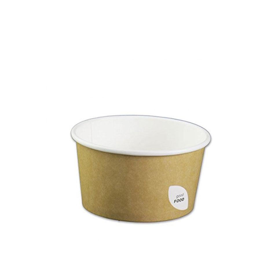 Ciotola Duni per zuppa in cartone marrone