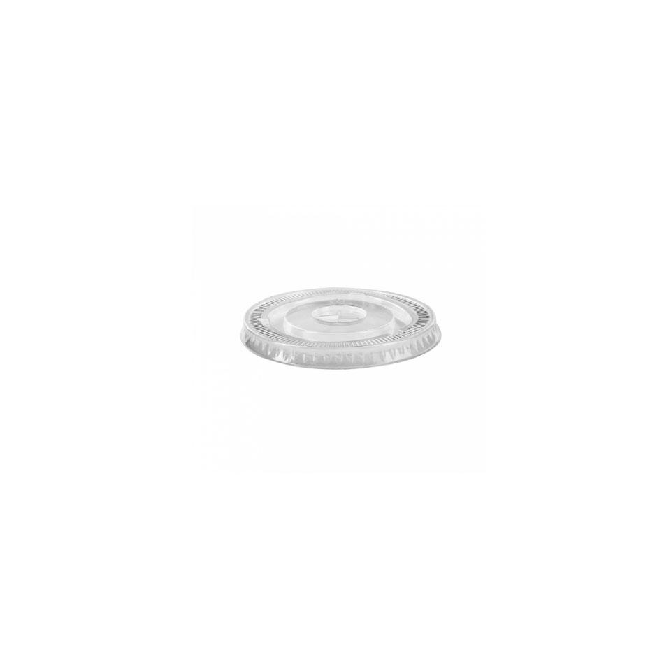 Coperchio monouso piatto con foro in pet trasparente cm 9,2