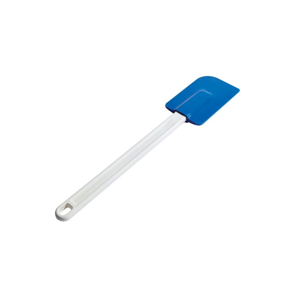 Spatola smussata in silicone morbido bianco e blu cm 35